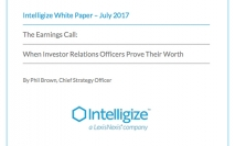 The earnings call: When investor relations officers prove their worth