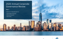 Georgeson's 2020 Annual Corporate Governance Review