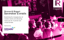 Investor Events report now available