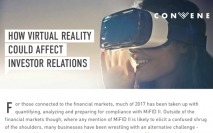 How virtual reality could affect investor relations